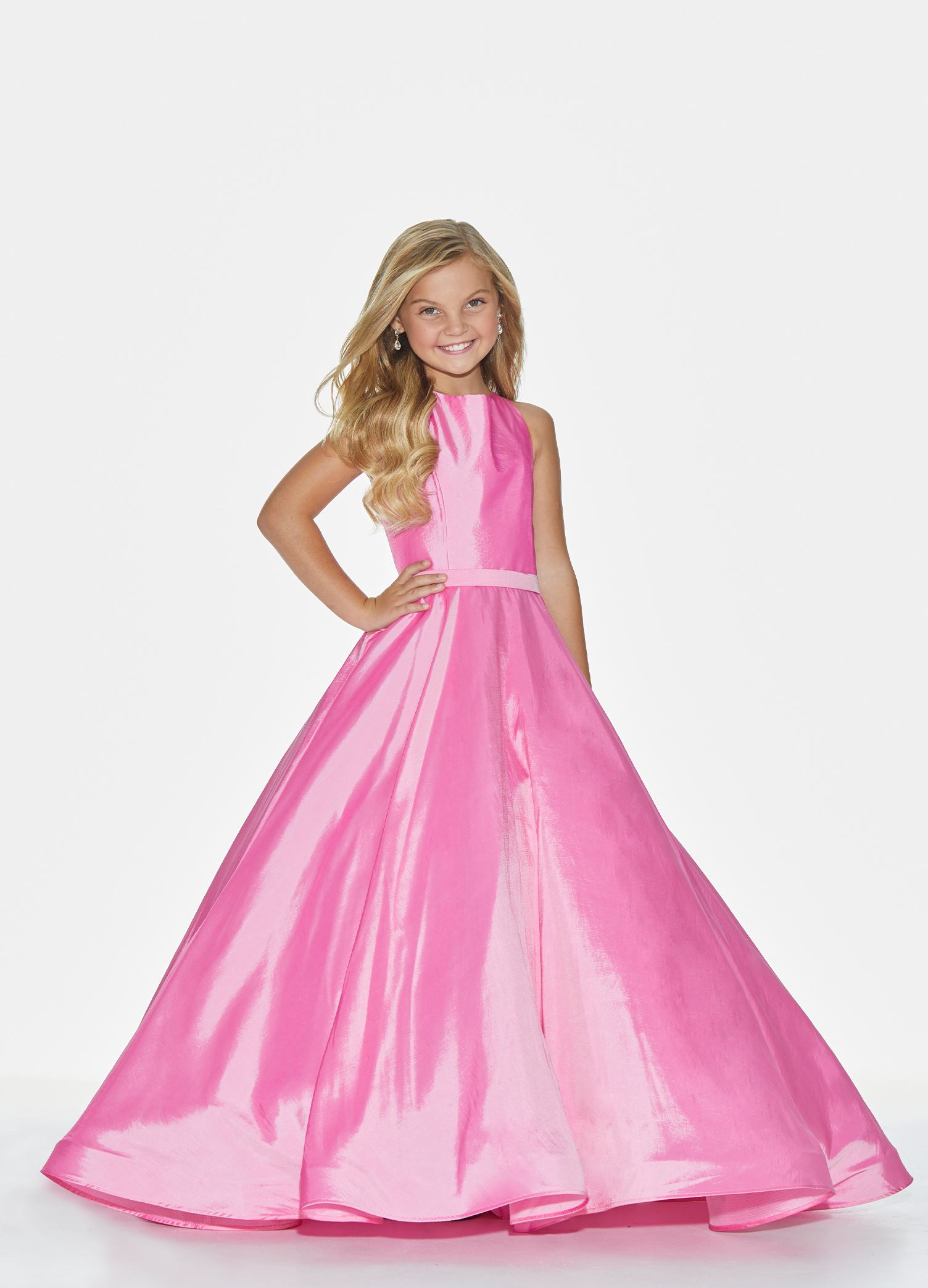 8060 Kids Crew Neckline Ball Gown