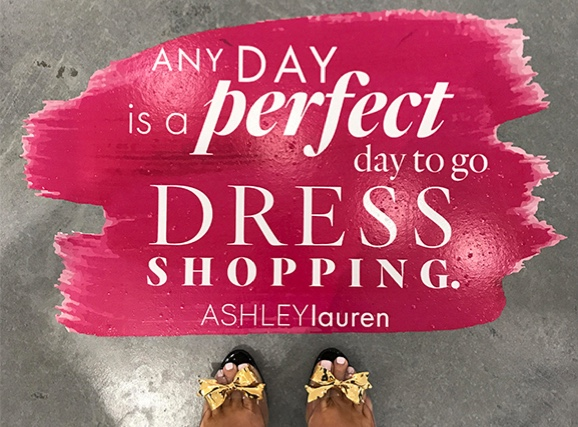 Any day is a perfect day to go dress shopping image