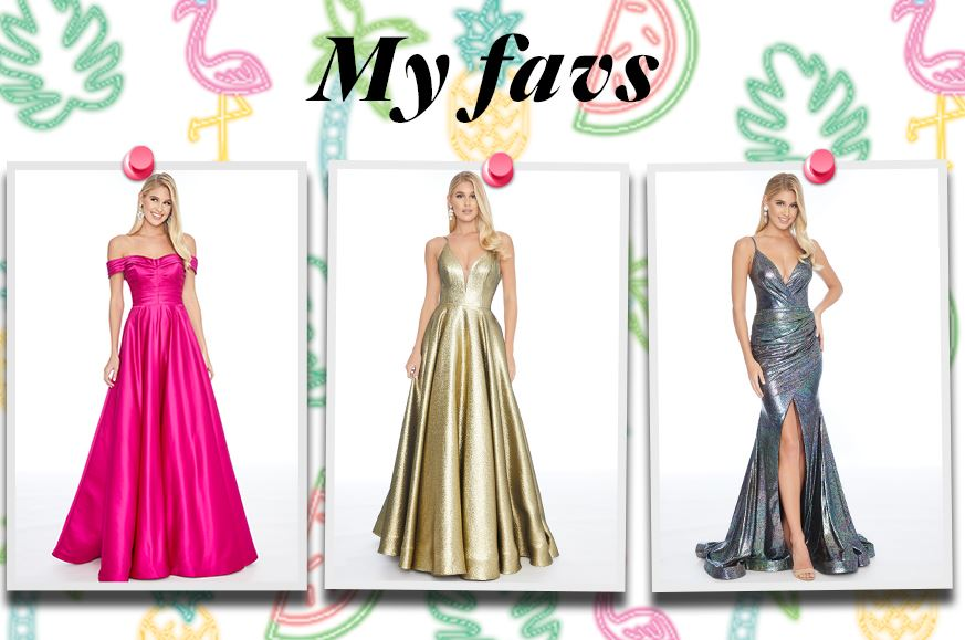 My favs image of pink, gold and metallic dresses