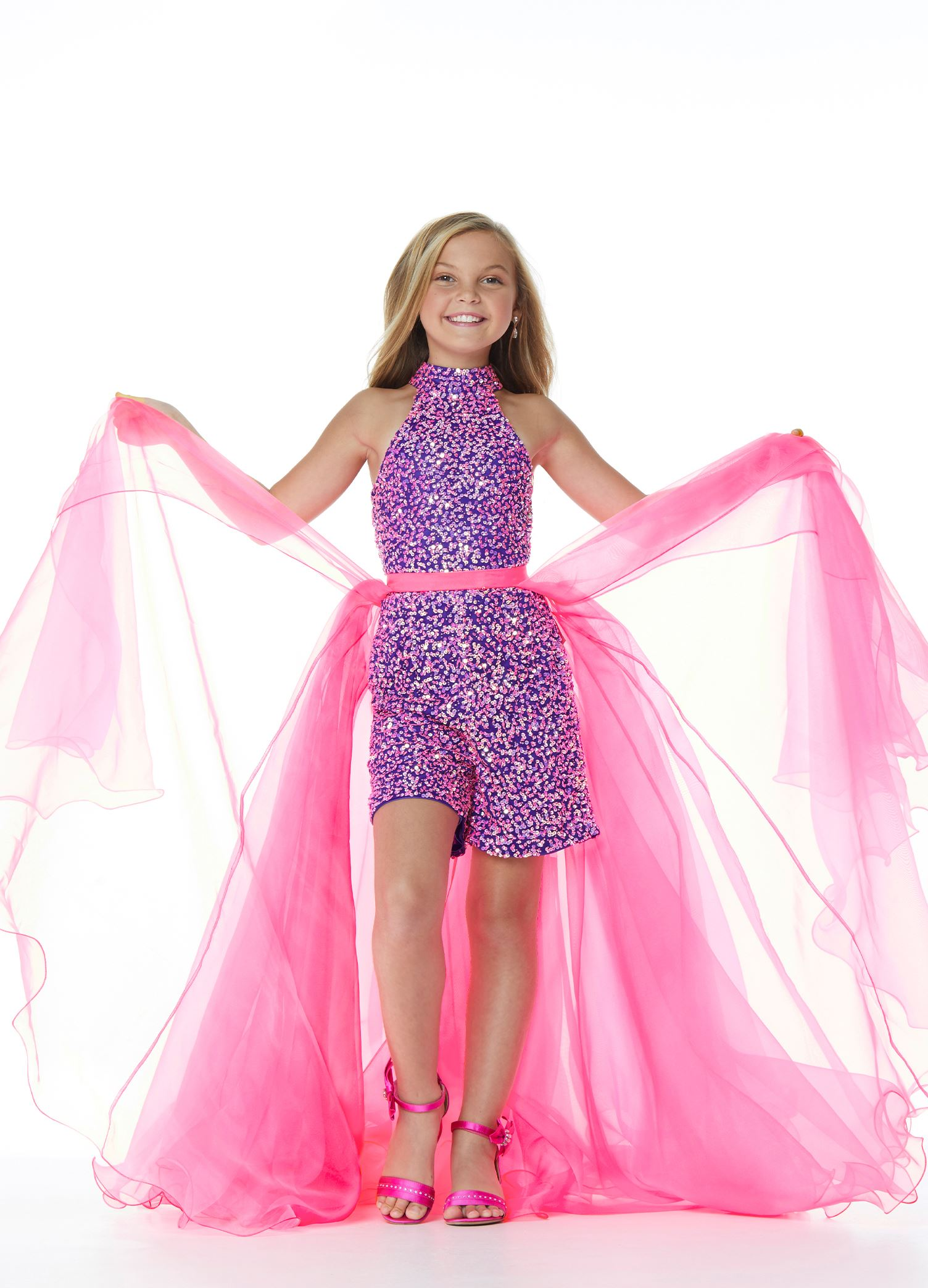 8067 Kids Organza Overskirt with Wire Hem