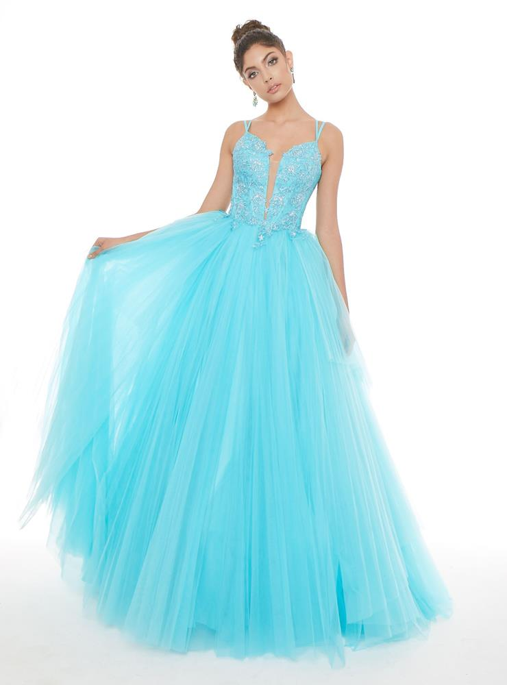 Ashley Lauren Pleated Tulle Ball Gown Image