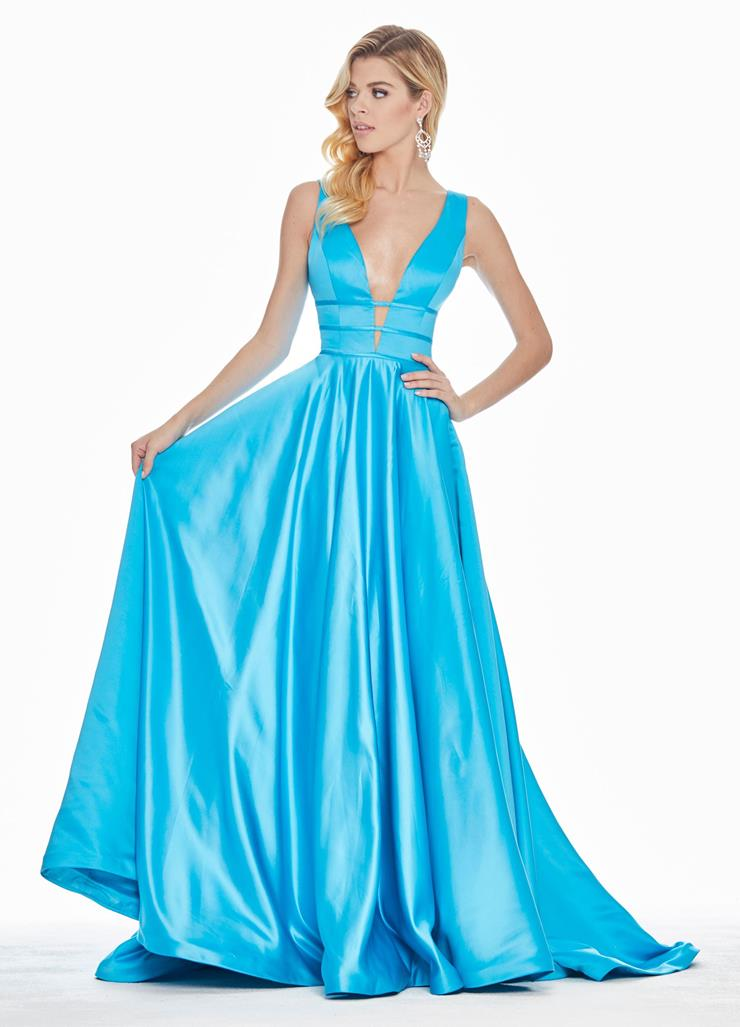 Ashley Lauren Satin A-Line Evening Dress