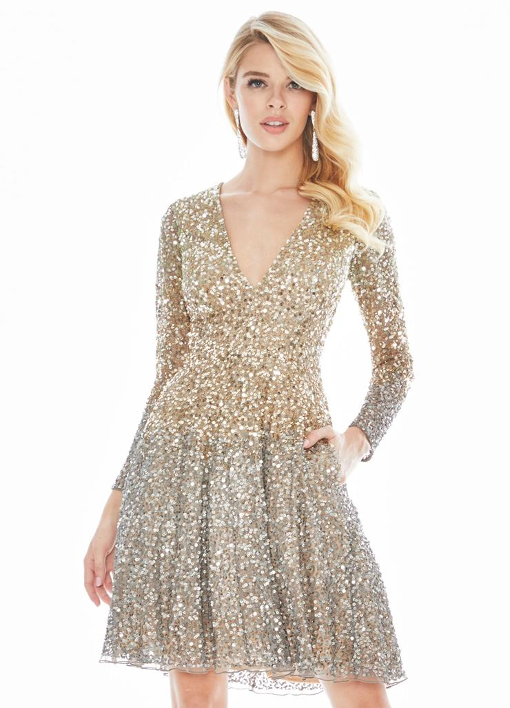 Ashley Lauren Ombre Sequin Cocktail Dress