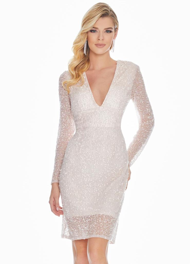 Ashley Lauren Fully Beaded Powder Cocktail Dress