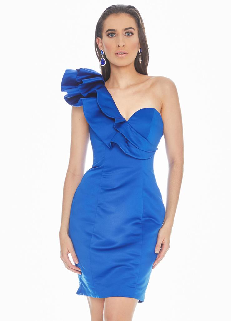 Ashley Lauren One Shoulder Sweetheart Cocktail Dress