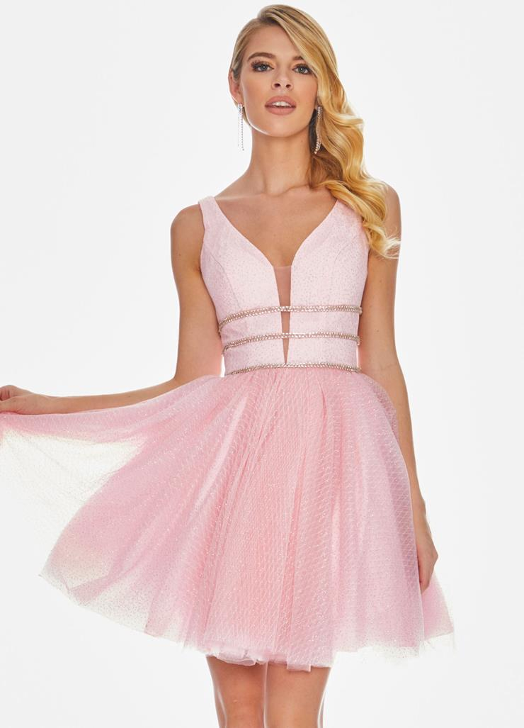 Ashley Lauren Glitter Tulle Cocktail Dress