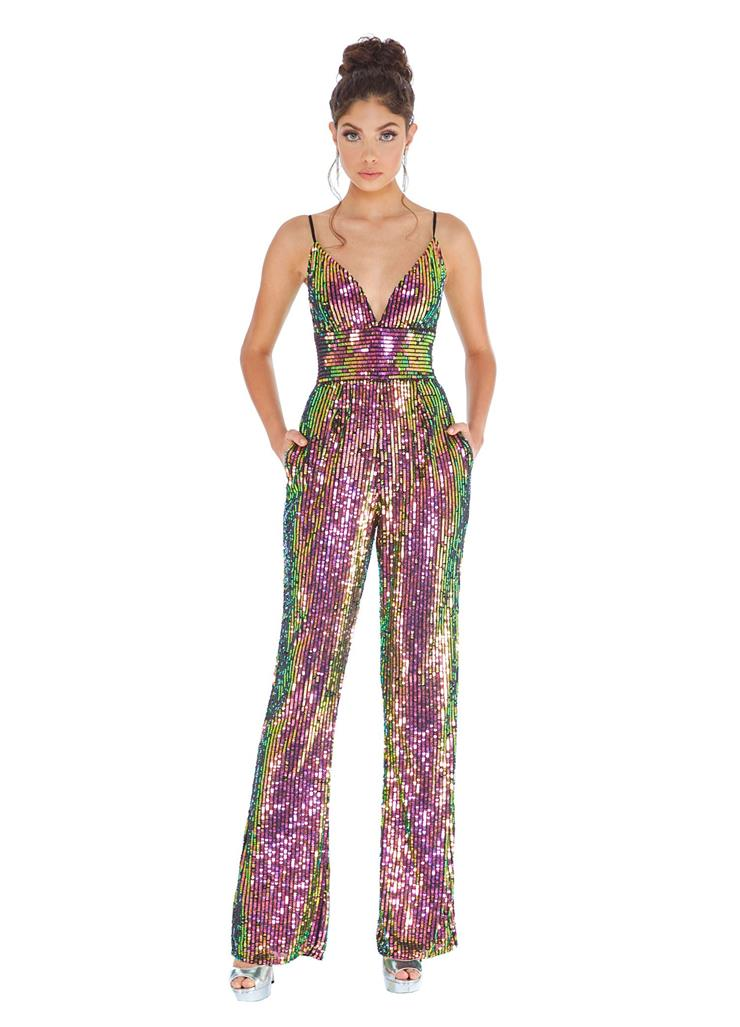 Ashley Lauren Fully Beaded Jumpsuit