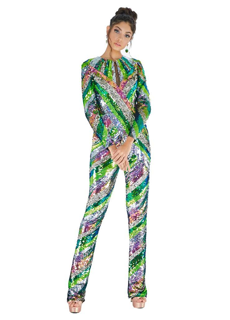 Ashley Lauren Fully Beaded Jumpsuit Image