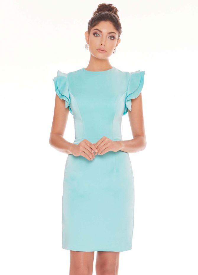 Ashley Lauren Flutter Sleeve Crepe Cocktail Dress