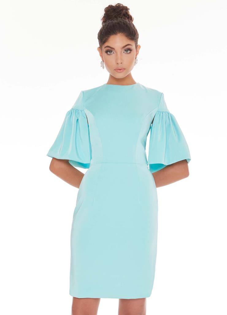 Ashley Lauren Fitted Crepe Cocktail Dress