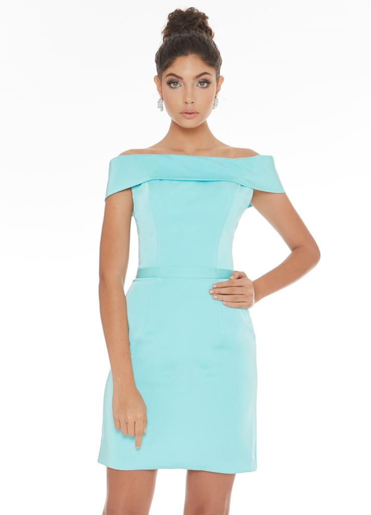 Ashley Lauren Off The Shoulder Crepe Cocktail Dress