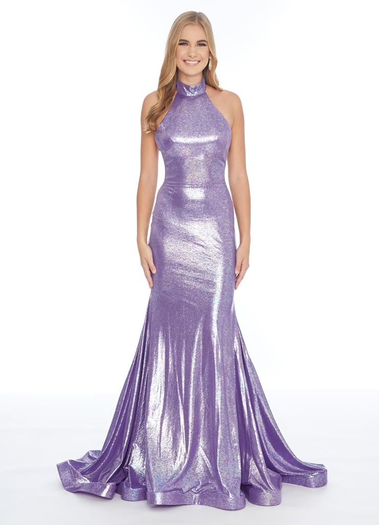 Ashley Lauren Halter Metallic Jersey Dress Image