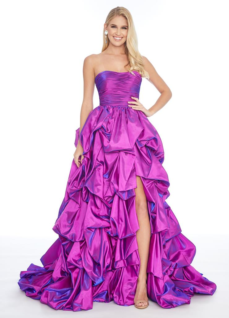 Ashley Lauren Strapless A-Line Gown with Pick Up Skirt
