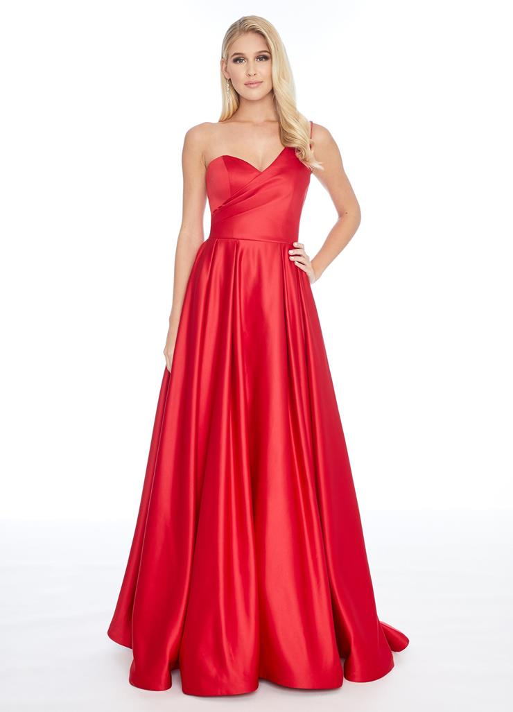 Ashley Lauren One Shoulder Satin Ball Gown