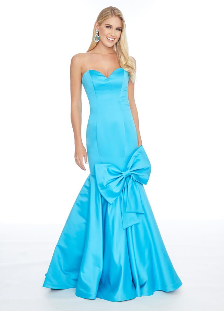 Ashley Lauren Sweetheart Satin Gown with Bow