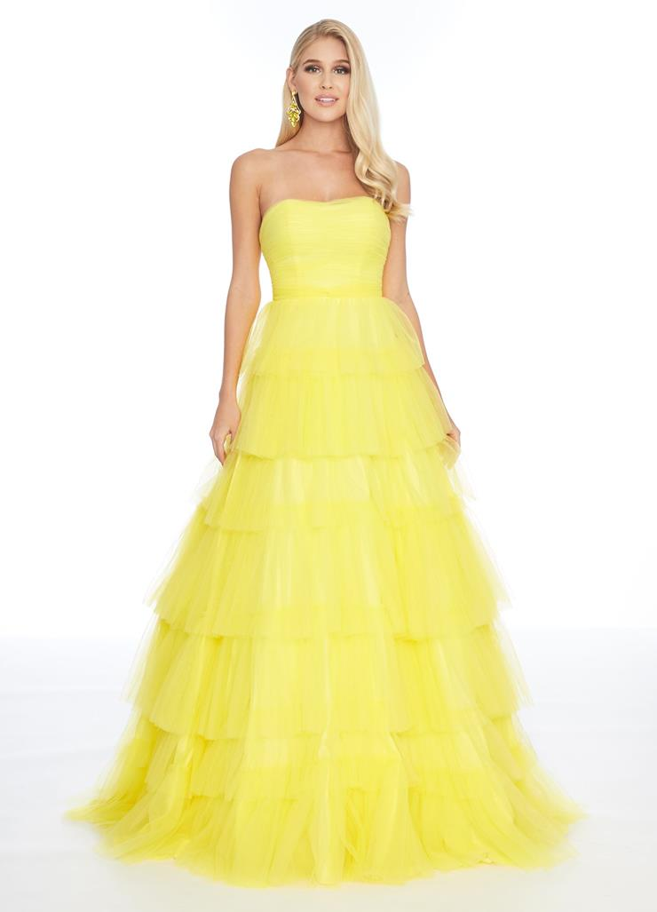 Ashley Lauren Multi Tiered Ball Gown