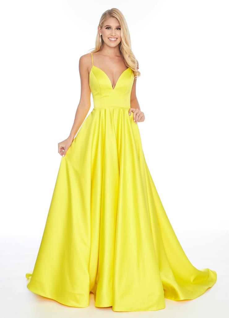 Ashley Lauren Heavy Satin Ball Gown with Spaghetti Straps Image