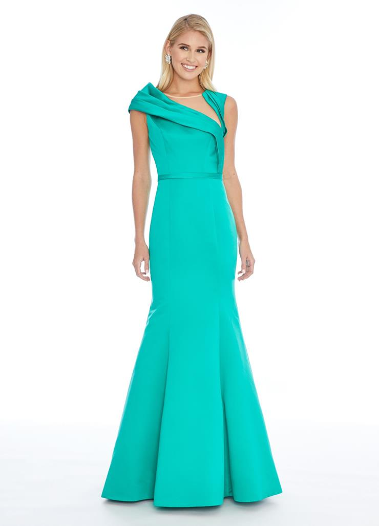 Ashley Lauren Fit and Flare Gown with Asymmetrical Details