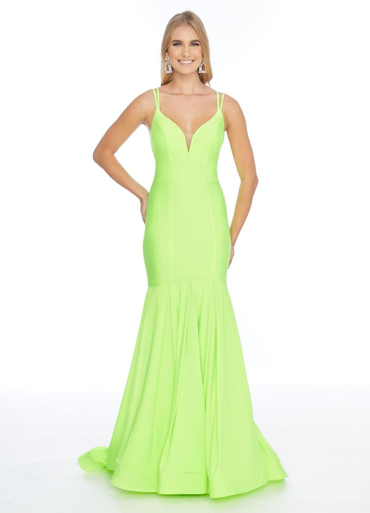 Ashley Lauren Jersey Fit & Flare Evening Dress Image
