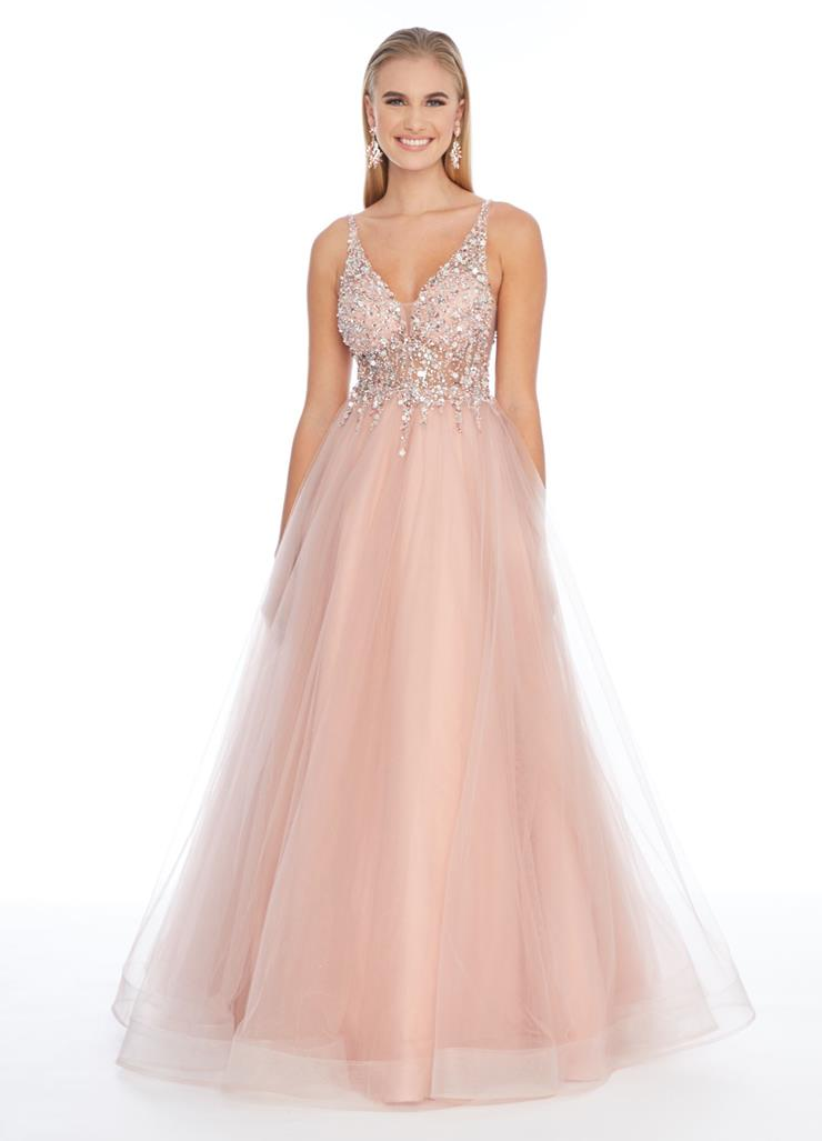 Ashley Lauren A-Line Tulle Evening Dress
