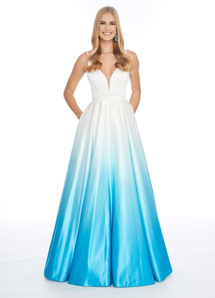Ashley Lauren V-Neckline Ombre Ball Gown