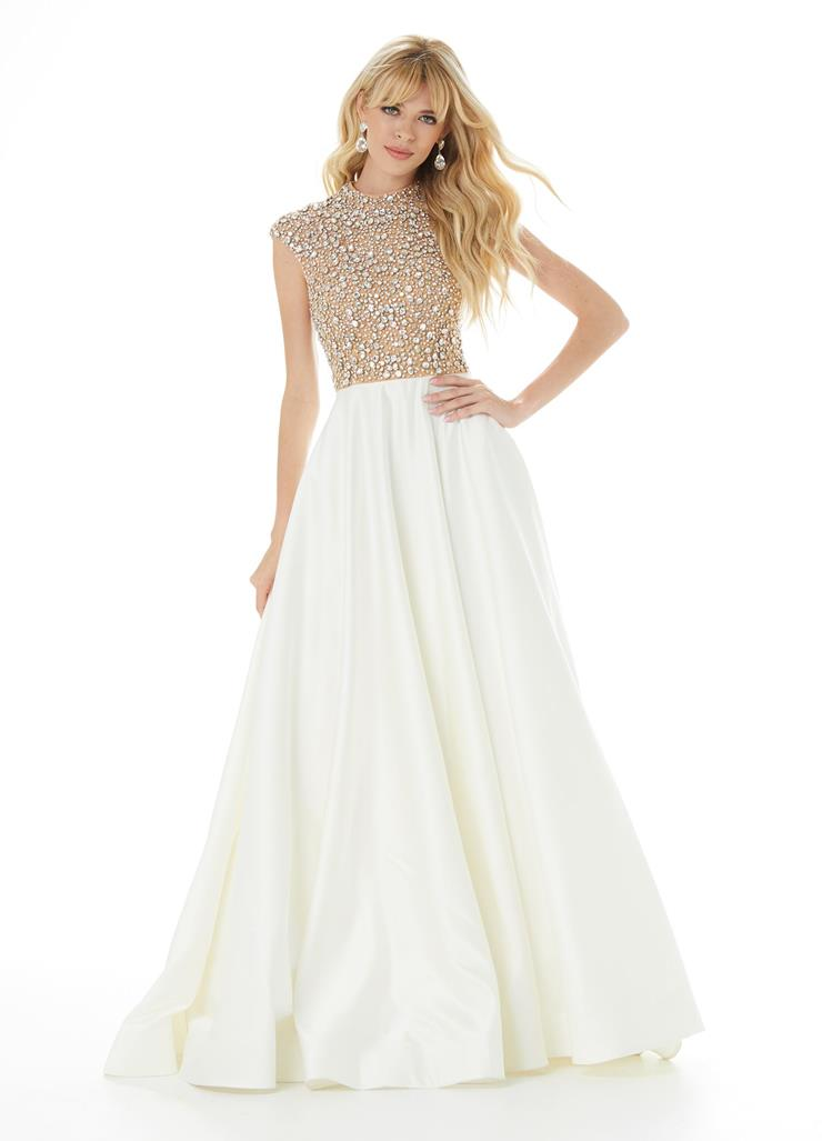 Ashley Lauren Crystal Bodice with Ball Gown Skirt Image